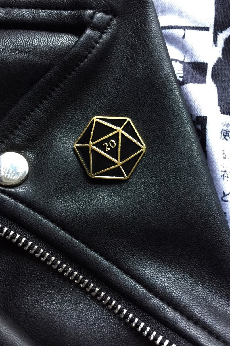 D20 - Enamel Pin Badge - GAMETEEUK