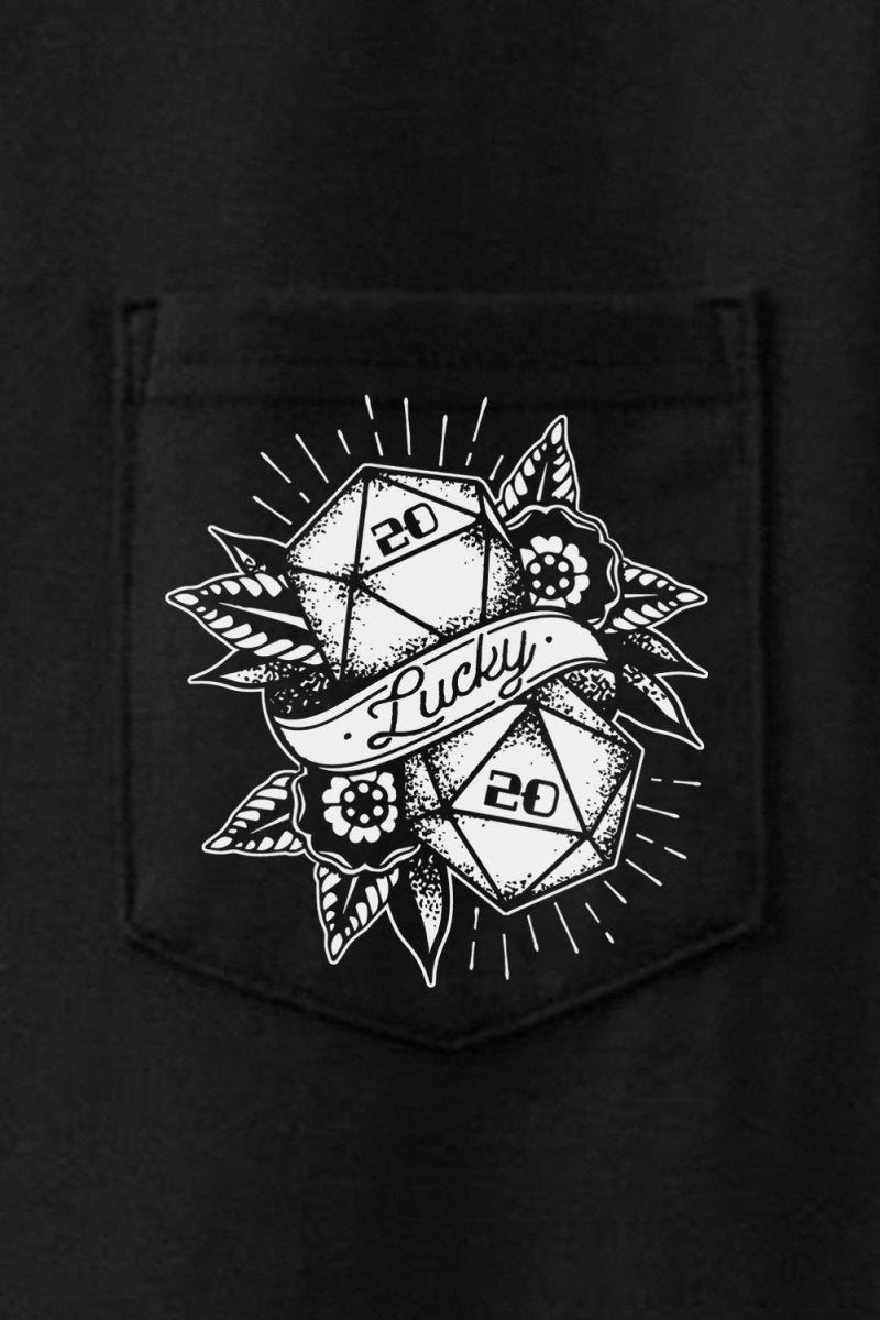 D20 Lucky Pocket Tee - T - Shirt - GAMETEEUK