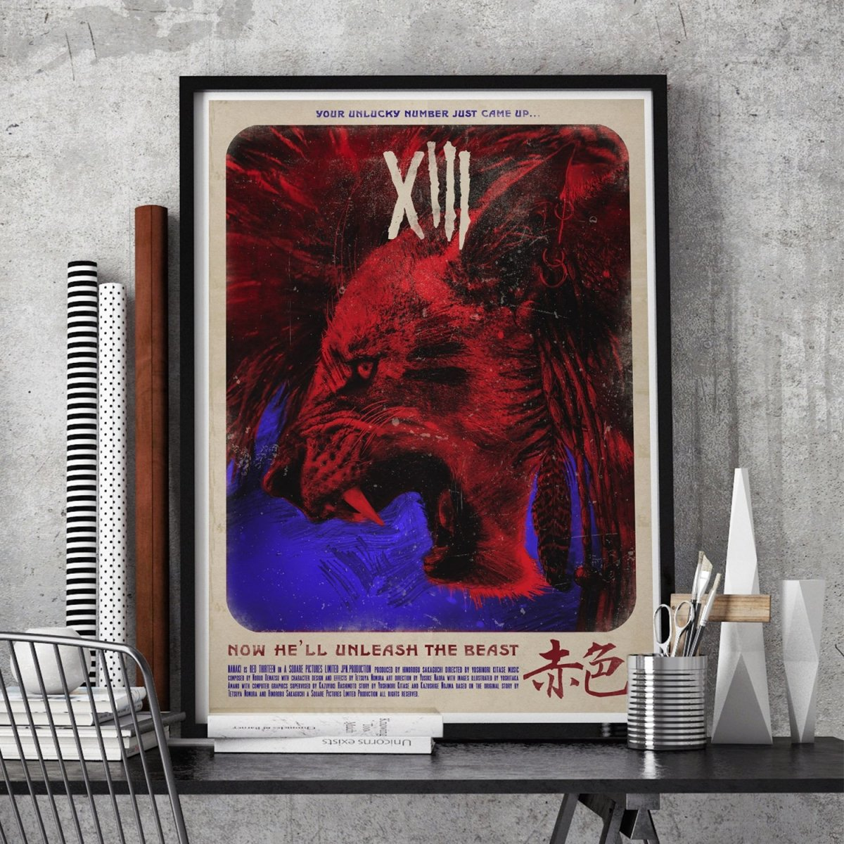Dancing Mad, XIII, The Turks and Mako Power Poster - GAMETEEUK