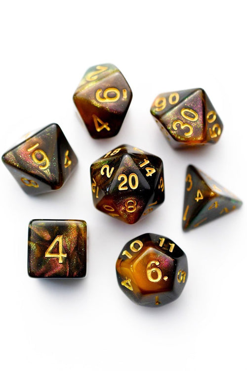 Dark Deeds - Acrylic Dice Set - GAMETEEUK