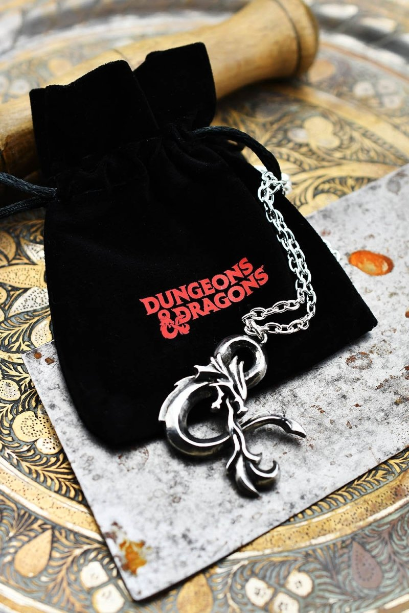 D&D Ampersand Pendant - Antiqued Pewter - GAMETEEUK