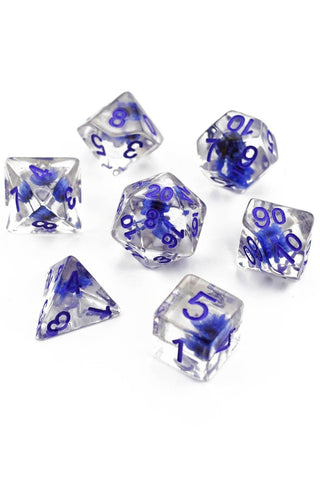 Atlantis - Gold and Holographic Flake Acrylic Dice Set