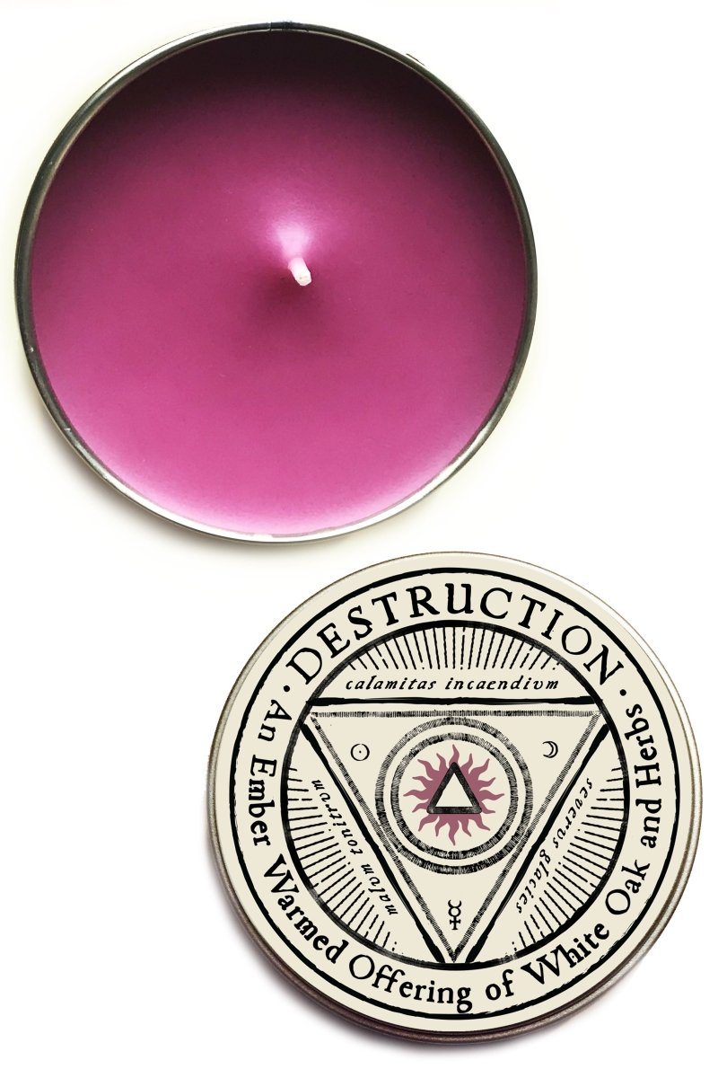 Destruction - Large Tin Candle - GAMETEEUK