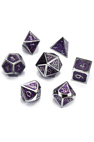 Divination - Ice-Sapphire Lustre-Sheen Acrylic Dice Set