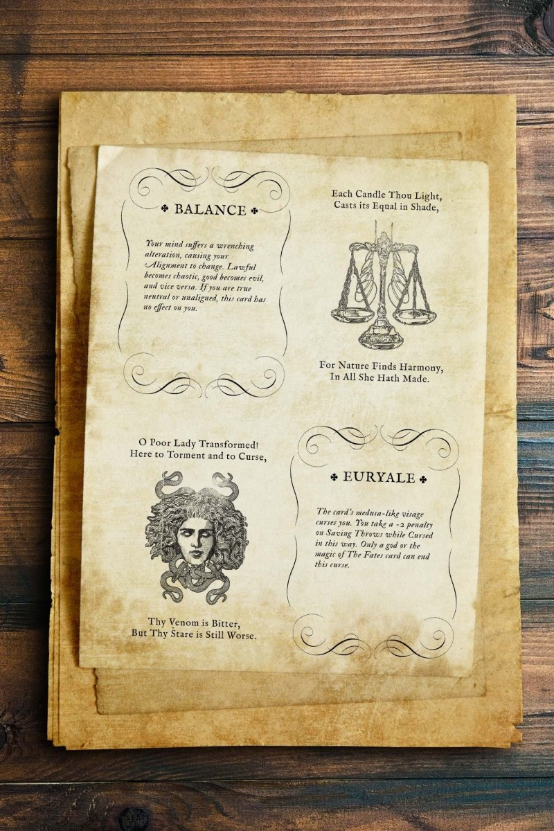 DnD 5E Rules for Deck of Many Destinies - Printable Booklet - GAMETEEUK