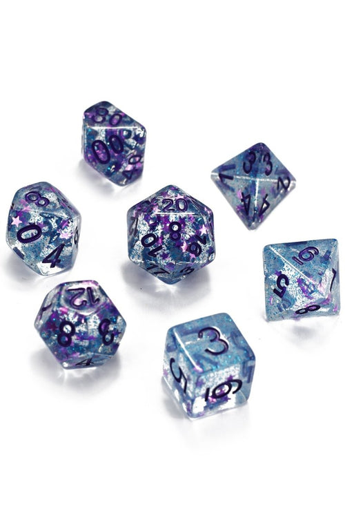 Dragon Scale Star Shine - Acrylic Dice Set - GAMETEEUK