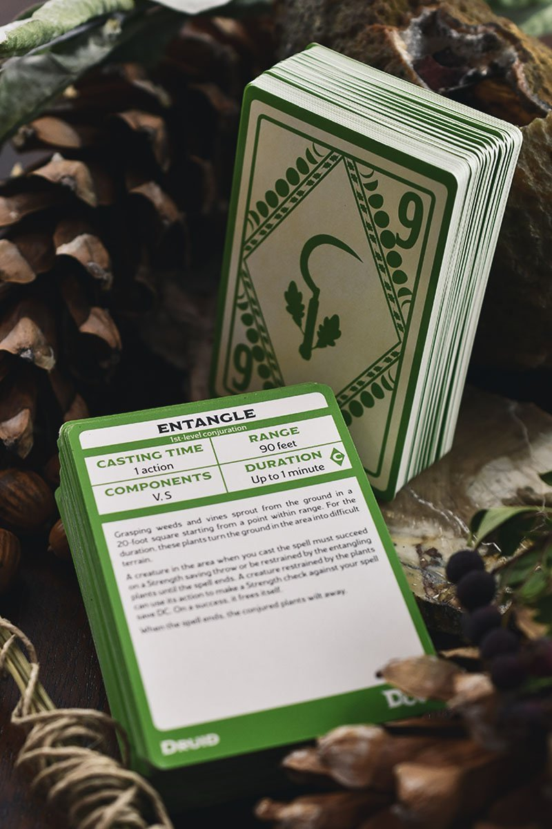 Druid Spellbook Cards D&D - GAMETEEUK
