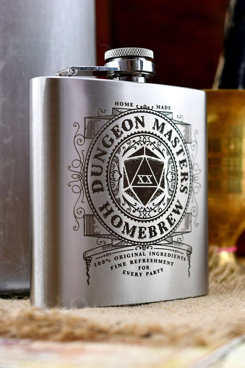 Dungeon Master's Homebrew - Gaming Hipflask - GAMETEEUK
