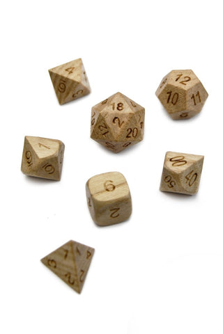 Fire Shard - Sharp-Edged Resin Dice Set