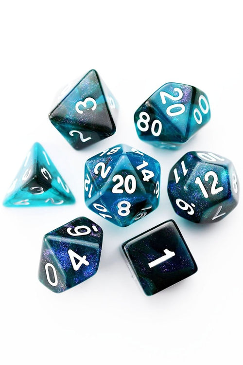 Evening into Night - Acrylic Dice Set - GAMETEEUK