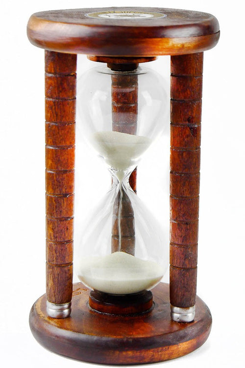 Expeditionis - Antique Wooden Bobbin Five Minute Sand Timer - GAMETEEUK