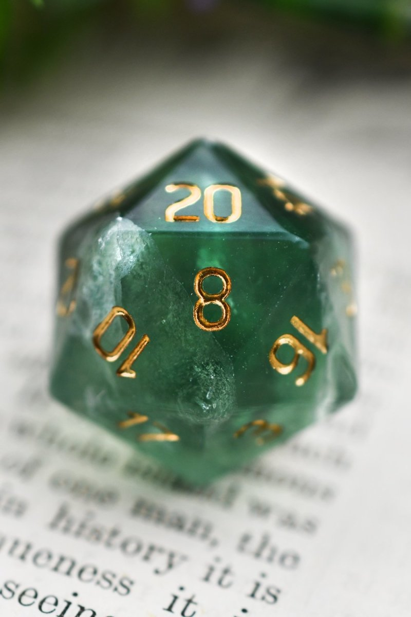 Fluorite Gemstone Dice Set - GAMETEEUK