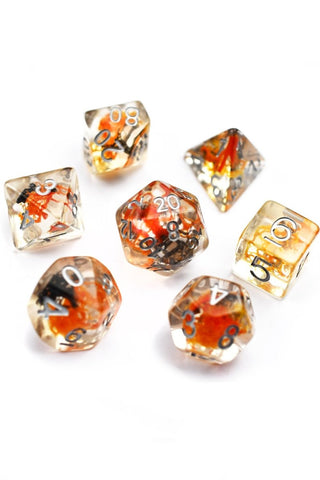Unakite Gemstone Dice Set