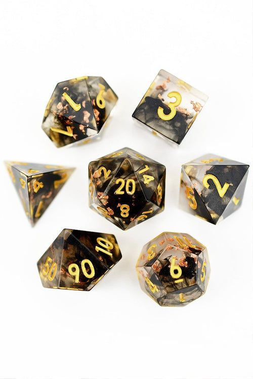 God of the Underworld - Sharp-Edged Resin Dice Set - GAMETEEUK