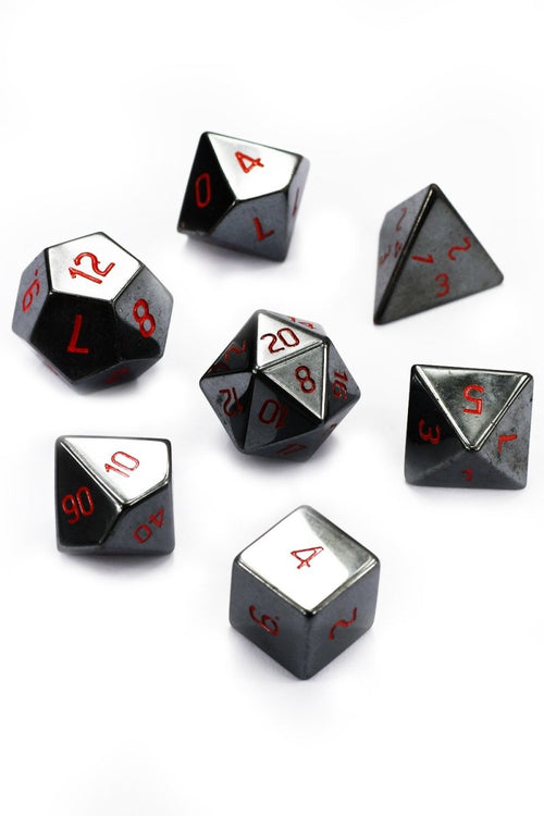 Haematite Gemstone Dice Set - GAMETEEUK