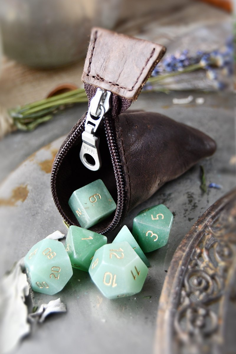 Heritage Brown Leather Dice Buddy - GAMETEEUK