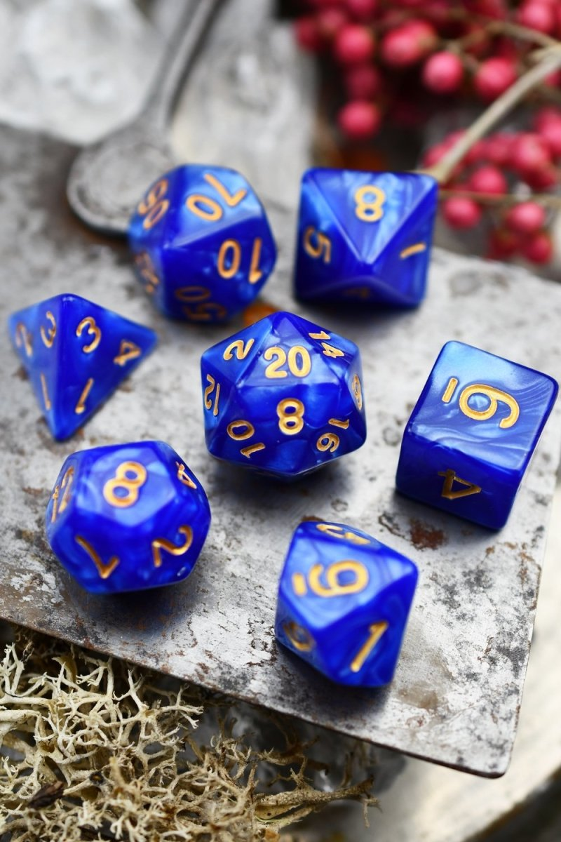 Hydromancy - Lost Lake Lustre-Sheen Acrylic Dice Set - GAMETEEUK