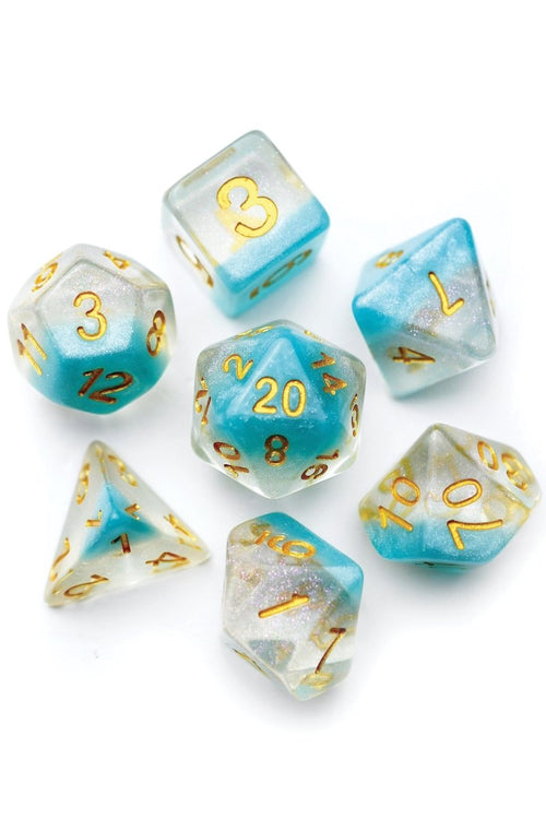 Icecap - Layered Acrylic Dice Set - GAMETEEUK