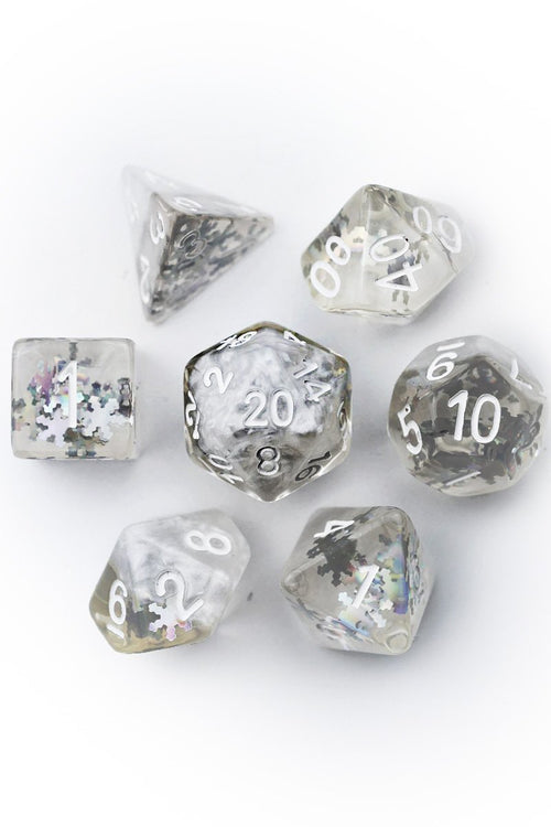 Iceheart - Acrylic Dice Set - GAMETEEUK