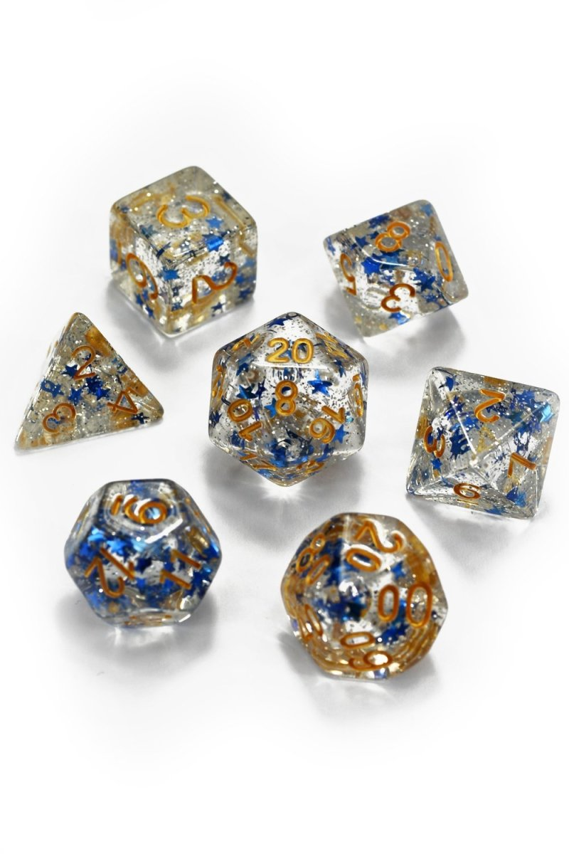 Inspiration Star Shine - Acrylic Dice Set - GAMETEEUK