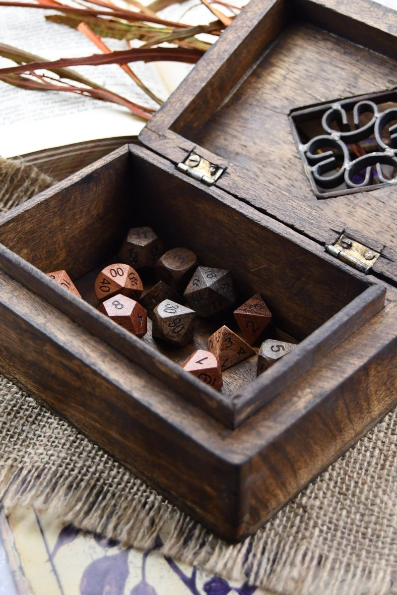 Ironheart - Handmade Dice and Accessory Box - GAMETEEUK