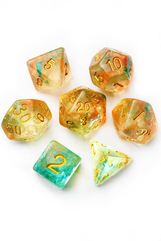 English Lavender - Real Flowers Acrylic Dice Set