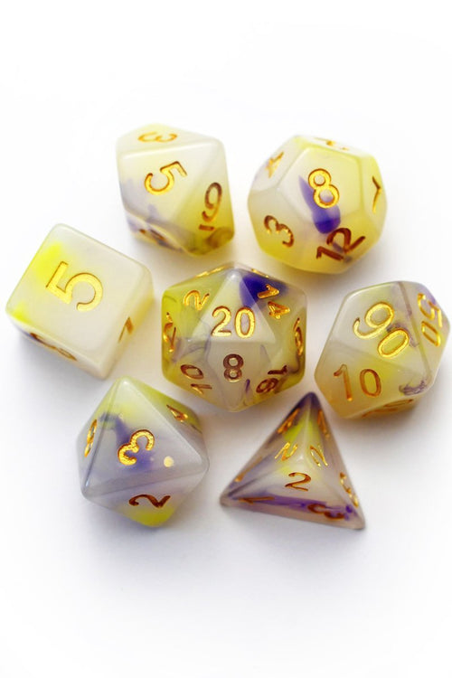 Lavender Milk Tea - Acrylic Dice Set - GAMETEEUK