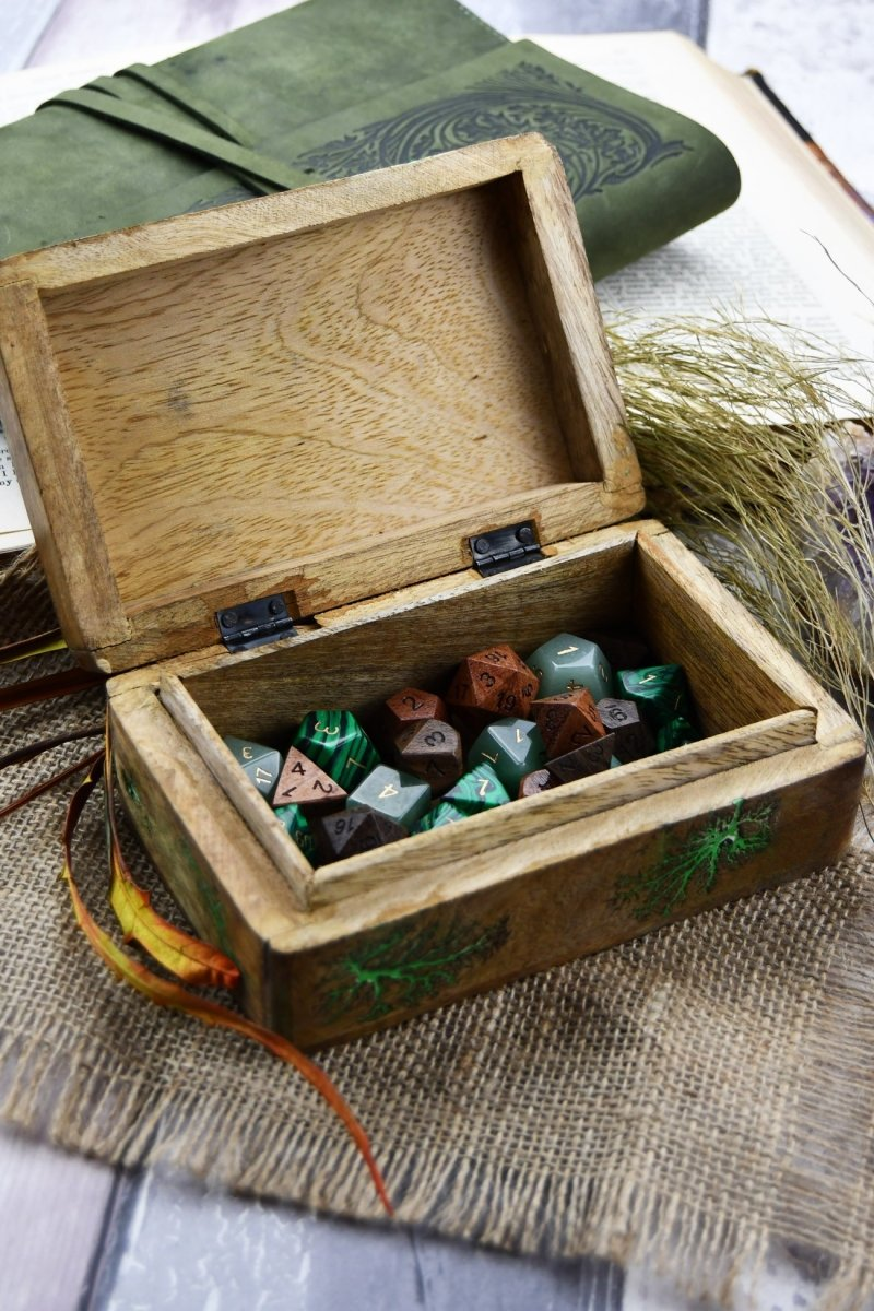 Living Magic - Handmade Dice and Accessory Box - GAMETEEUK