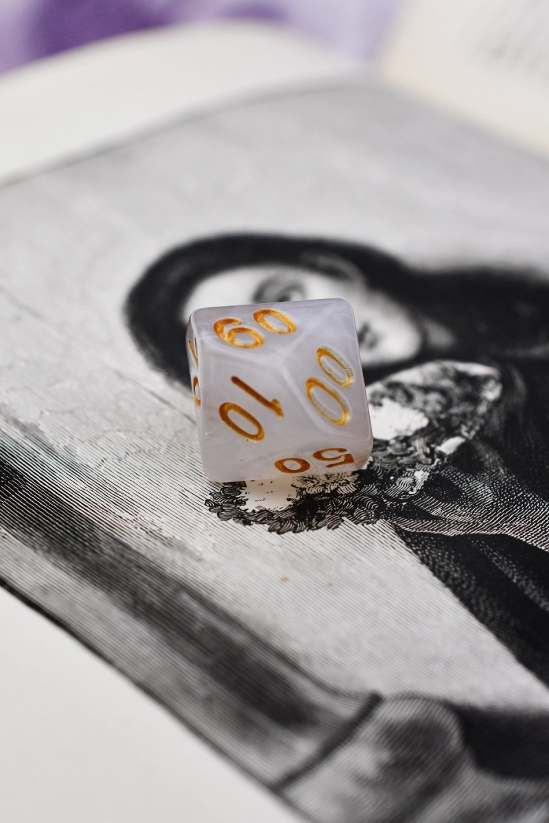 London Fog - Smoke-Silk Acrylic Dice Set - GAMETEEUK