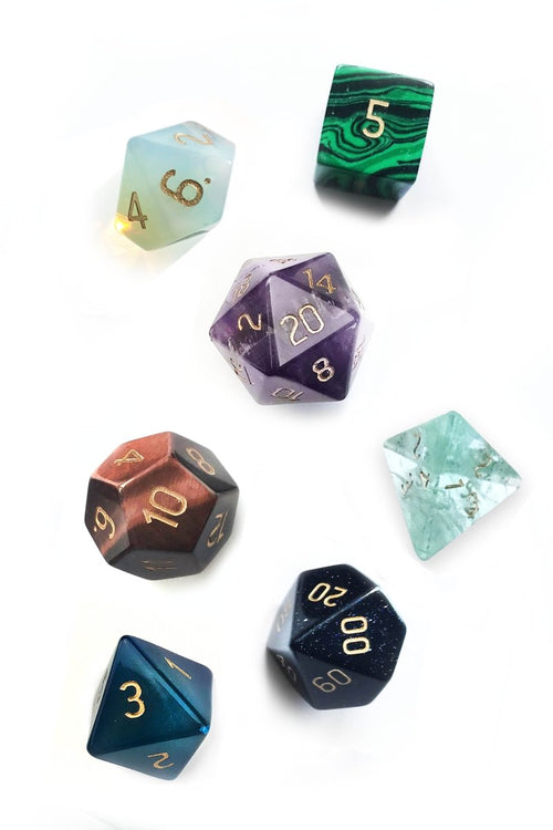 Lucky Dip Gemstone Dice Set - GAMETEEUK