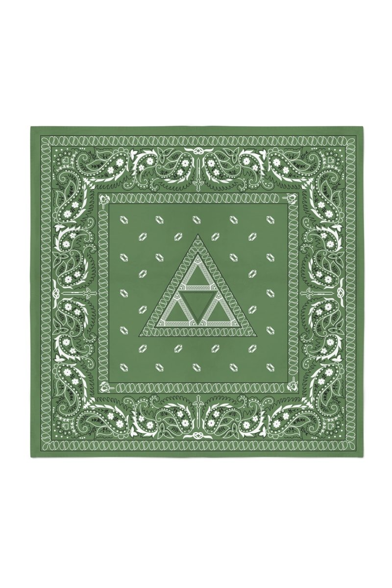 Luxury Tri - Forest Green Bandana - GAMETEEUK