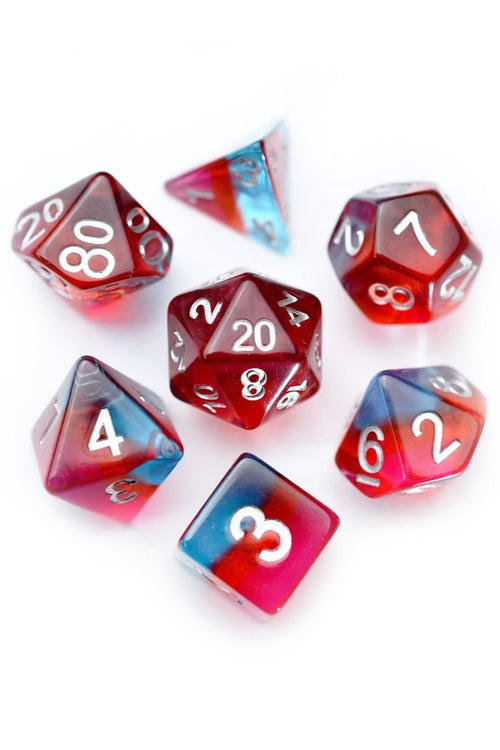 Lycanthrope - Layered Acrylic Dice Set - GAMETEEUK