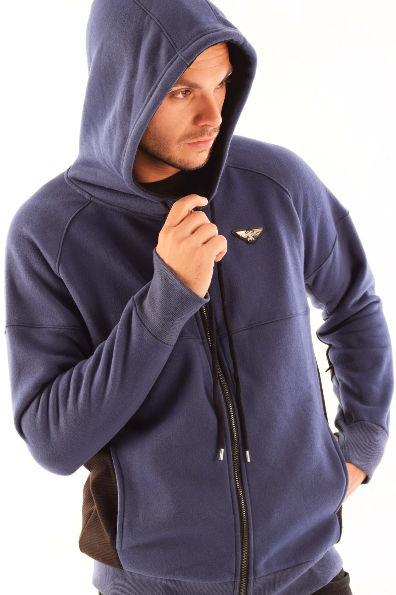 MACRAGGE Space Marines Armour Hoodie (Blue) - GAMETEEUK