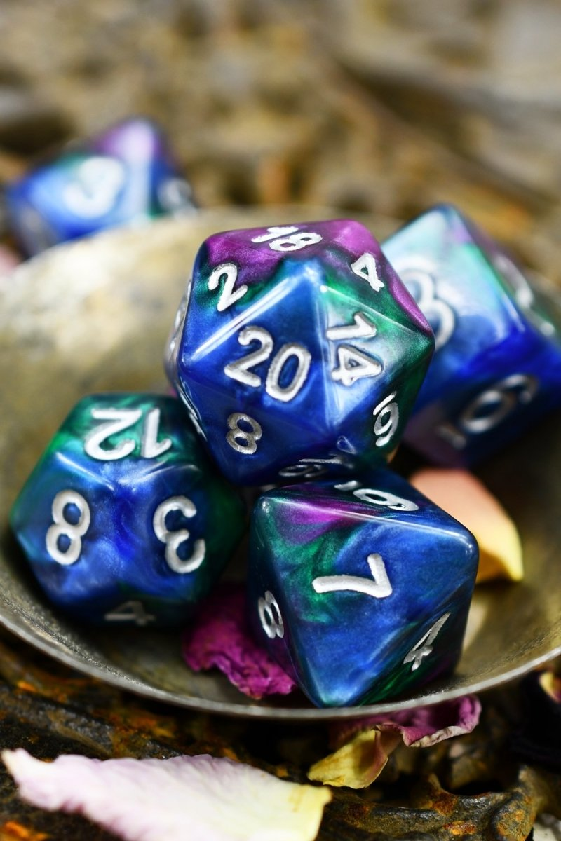 Maelstrom - Smoke-Silk Acrylic Dice Set - GAMETEEUK