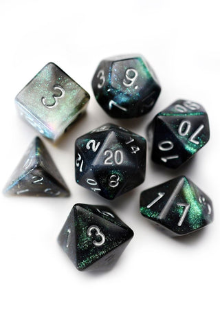 Swamp Thing - Real Moss Acrylic Dice Set