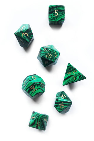 Spriggan with Real Moss - Acrylic Dice Set