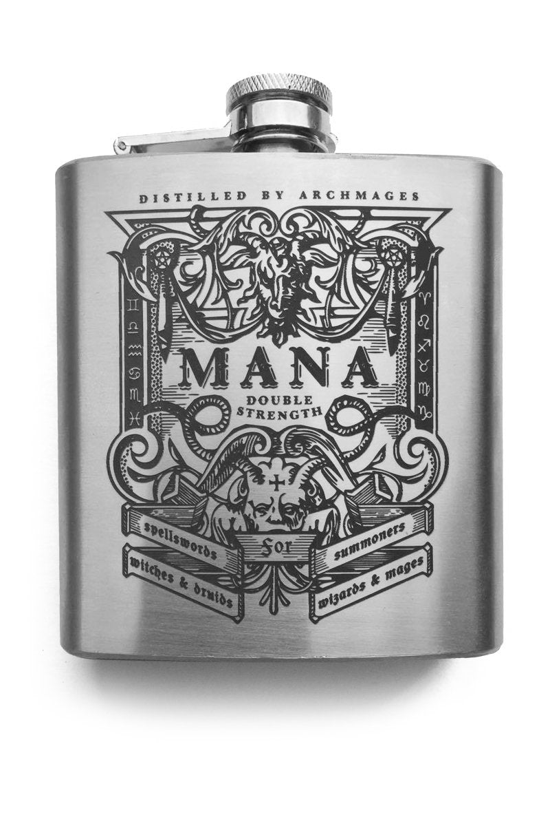 Mana - Gaming Hipflask - GAMETEEUK