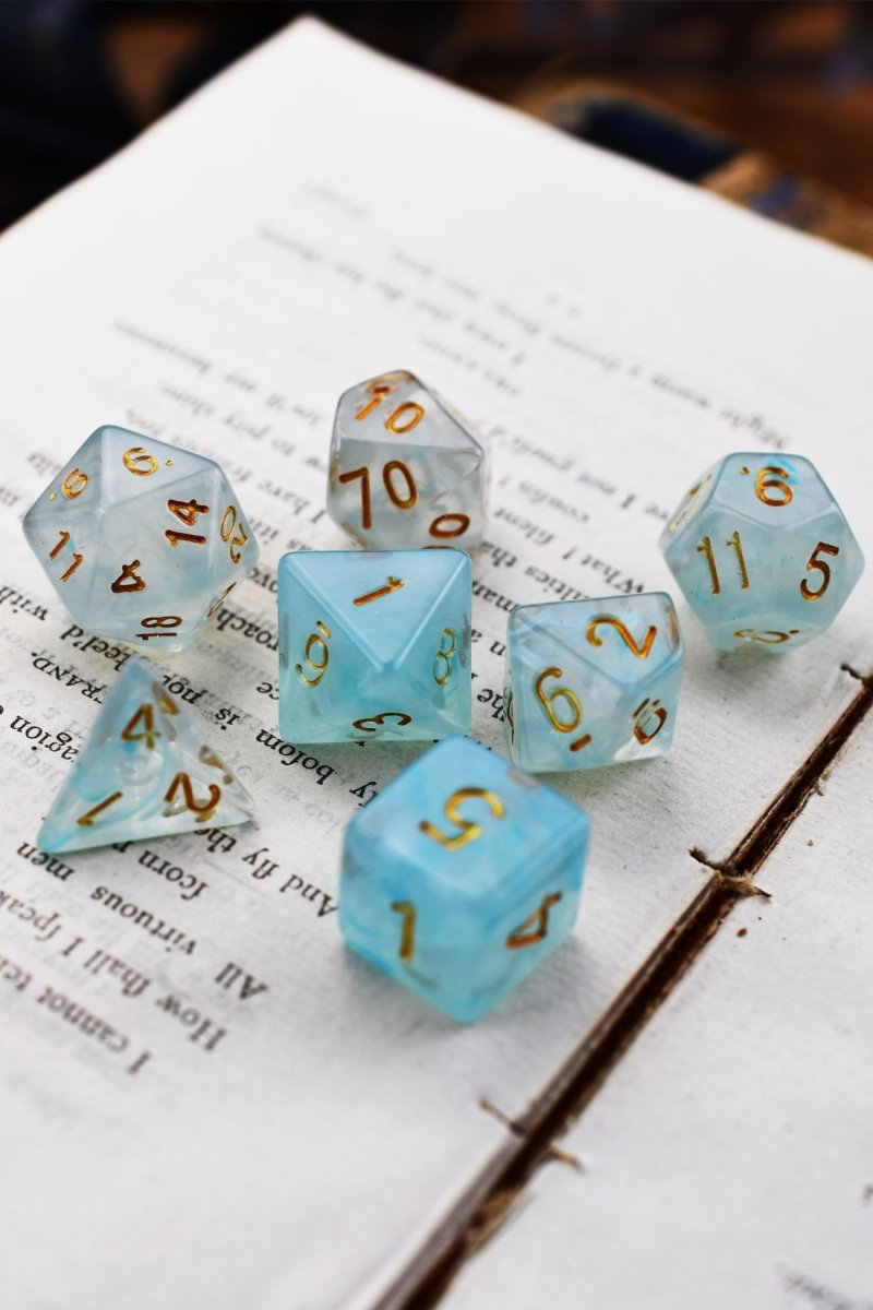 Marine - Smoke-Silk Acrylic Dice Set - GAMETEEUK