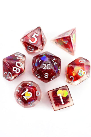 Chromatic Green Energy Metal Dice Set