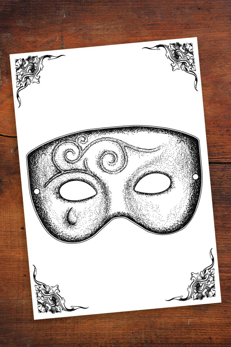 Mask of the Rose - Community Printables - GAMETEEUK