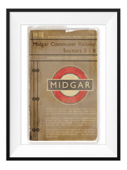 Midgar Train Timetable - Art Print - GAMETEEUK