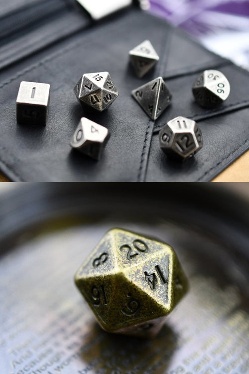 Miniature Metal Dice Set - GAMETEEUK