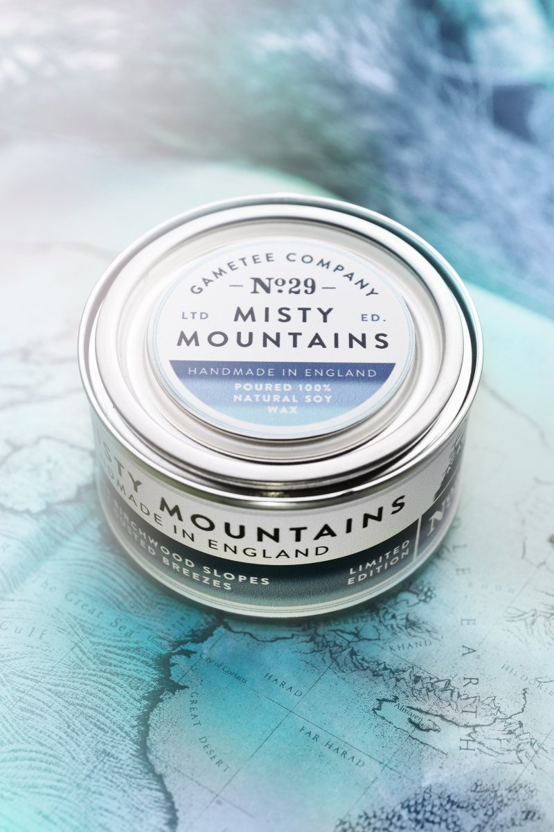 Misty Mountains - Gaming Candle - GAMETEEUK