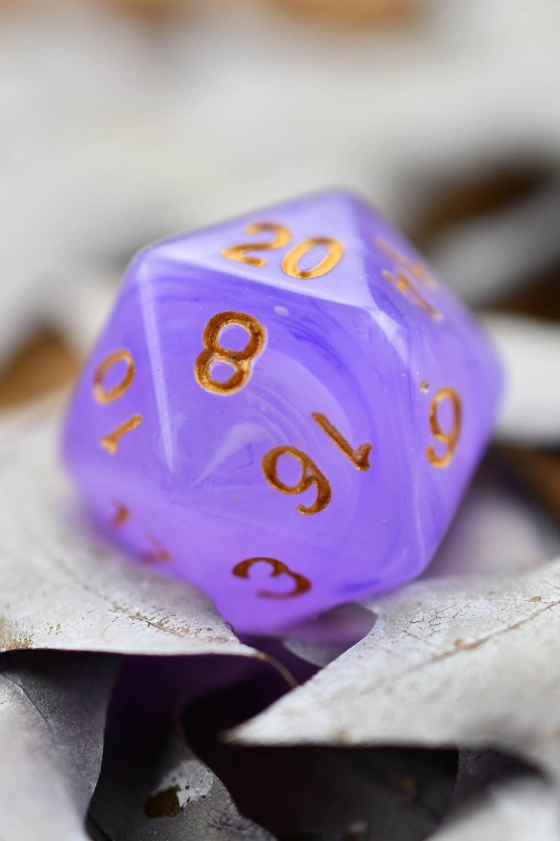 Mystic - Smoke-Silk Acrylic Dice Set - GAMETEEUK