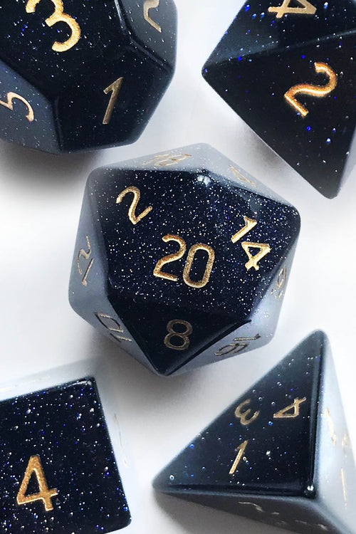 Nightstone Gemstone Dice Set - GAMETEEUK
