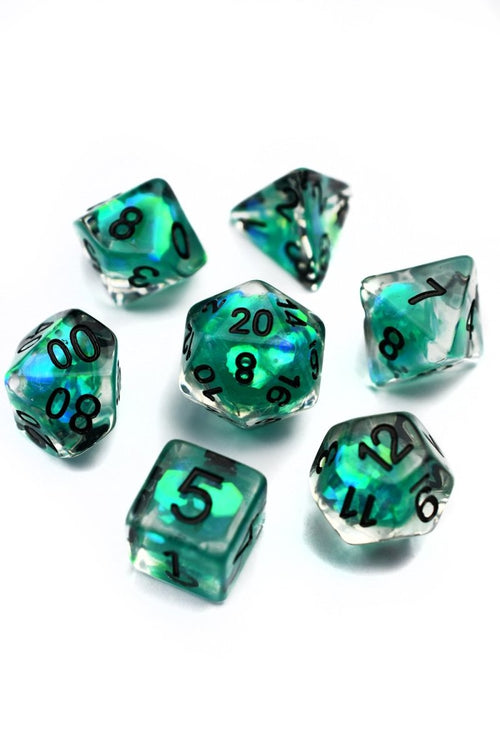 Northern Lights - Holographic Acrylic Dice Set - GAMETEEUK