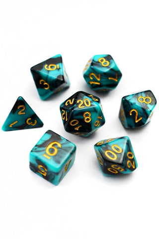 Cherry Cola - Smoke-Silk Acrylic Dice Set