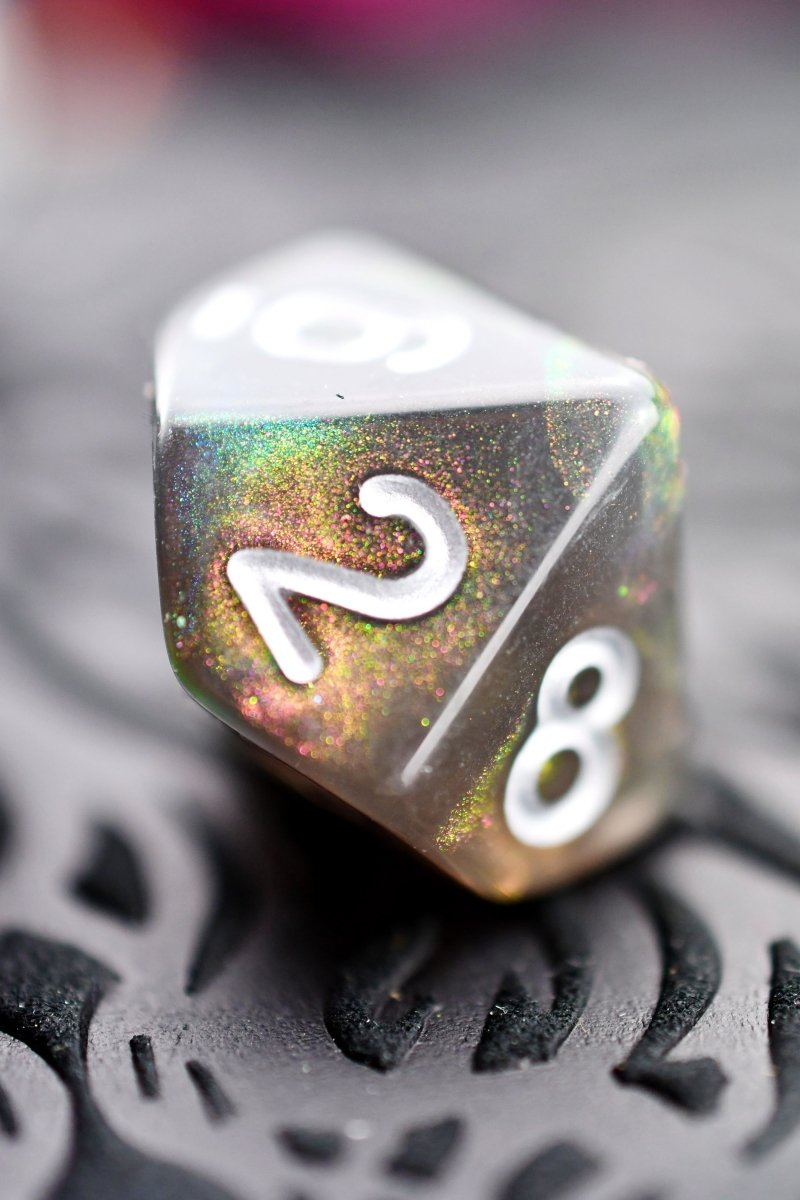 Oilslick - Acrylic Dice Set - GAMETEEUK