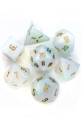 Fine Green Zircon - Gemstone Dice Set