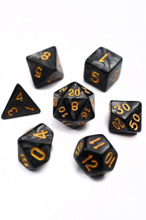 Oracle - Stony Creek Lustre-Sheen Acrylic Dice Set - GAMETEEUK